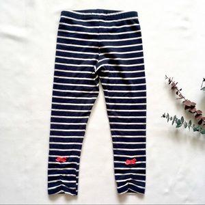 3-4Y Navy Striped Legging